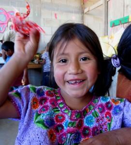 a child in Guatemala